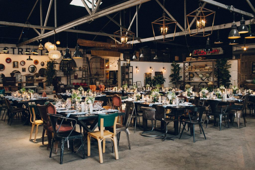 603d10aae5e wedding reception at Big Daddy s Antiques in los angeles