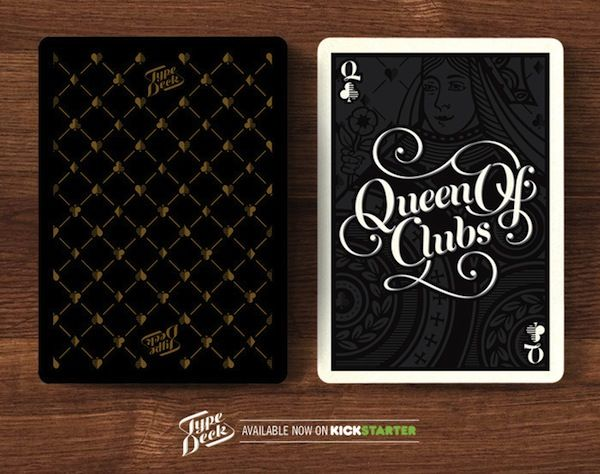 A Beautiful Deck Of Typographic Playing Cards For Design Lovers