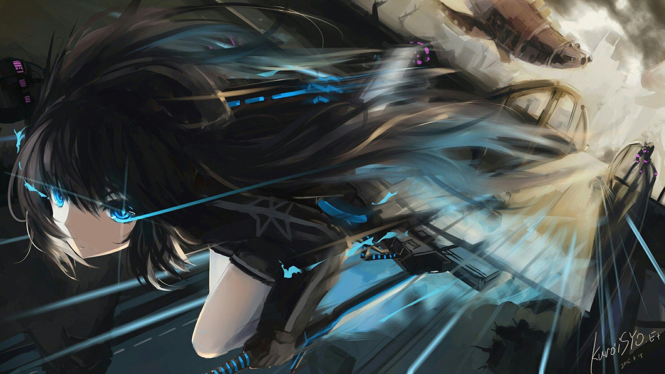 Pin de sinadee em BLACK☆ROCK SHOOTER Menina anime, Olhos