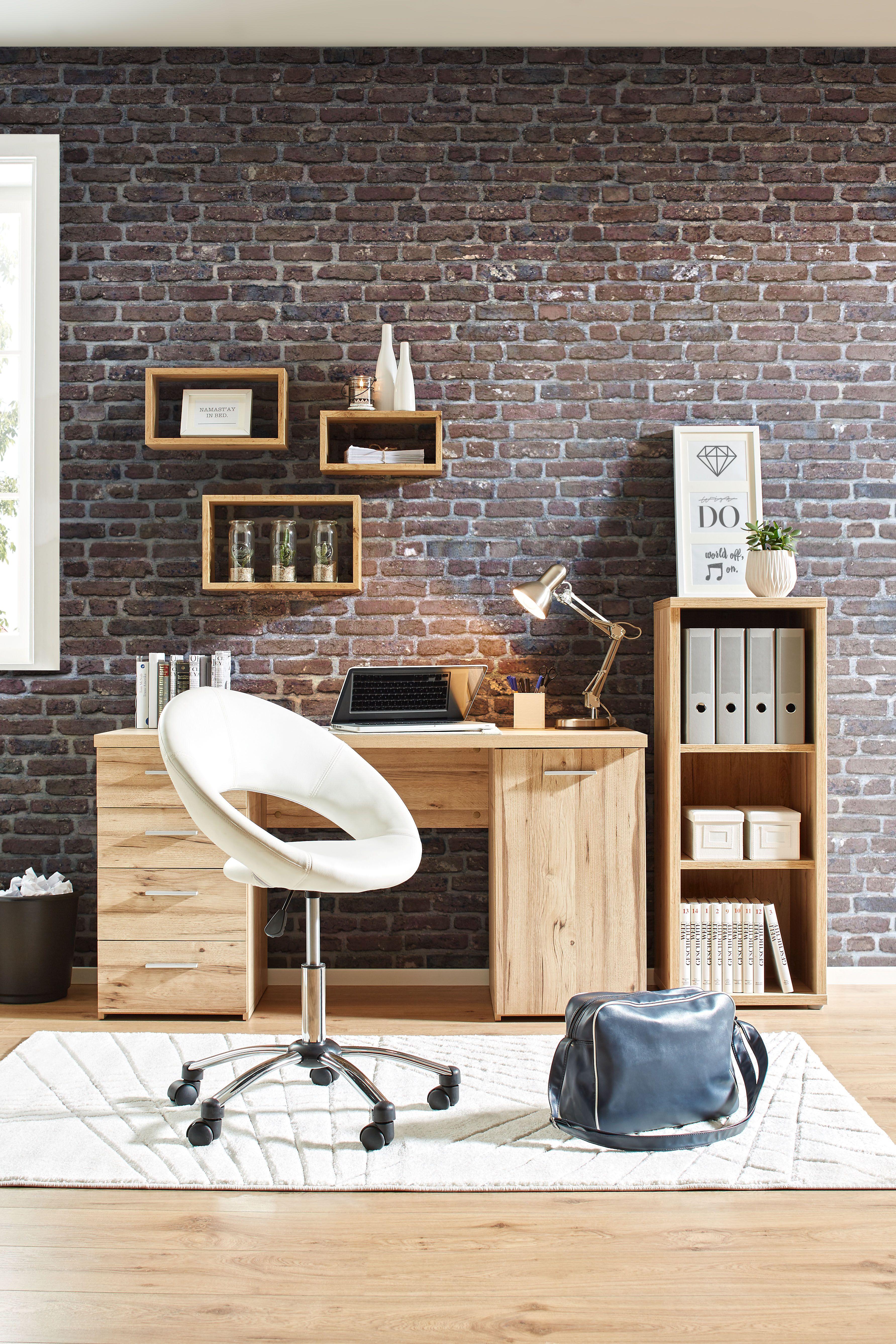 Schreibtisch In Eichefarben Schreibtisch Tisch Und Zuhause