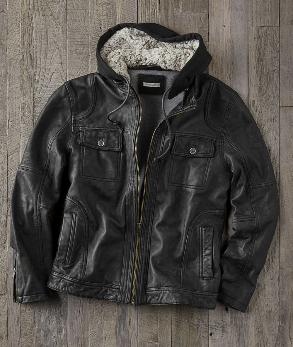 Men S Highgate Hooded Leather Jacket The Buttery Soft Lambskin With A Velvety Vintage Finish Alone Is Someth Leather Jacket Leather Jacket With Hood Jackets [ 1186 x 1000 Pixel ]