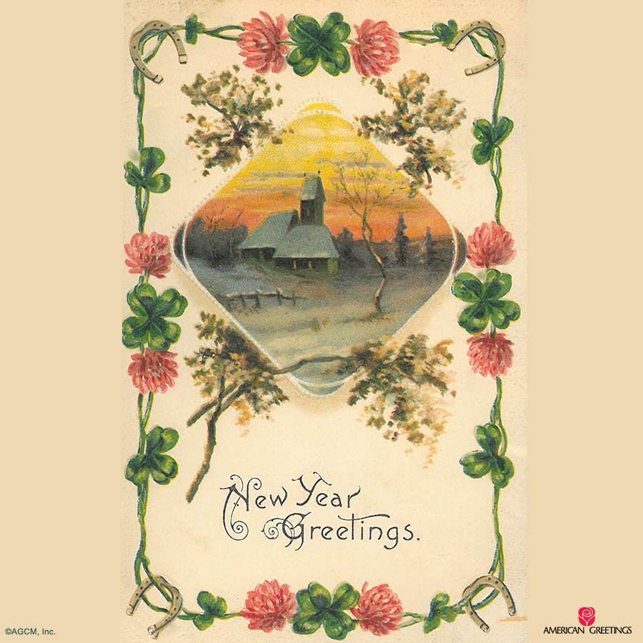 vintage new years cards american greetings archives