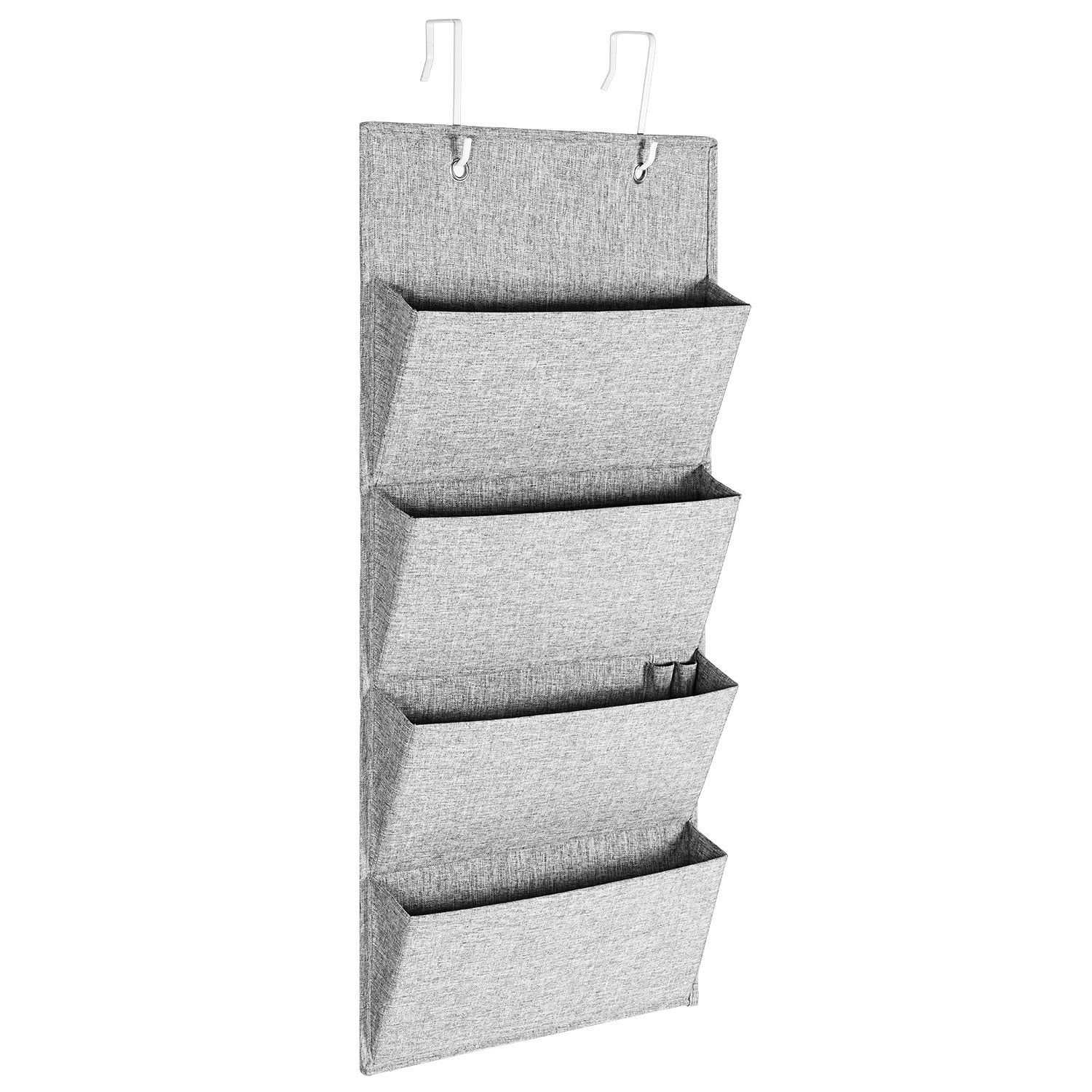 Hanging File Organizer MaidMAX Fabric Over The Door/ Wall Mount Office  Organizer For Folders Notebooks