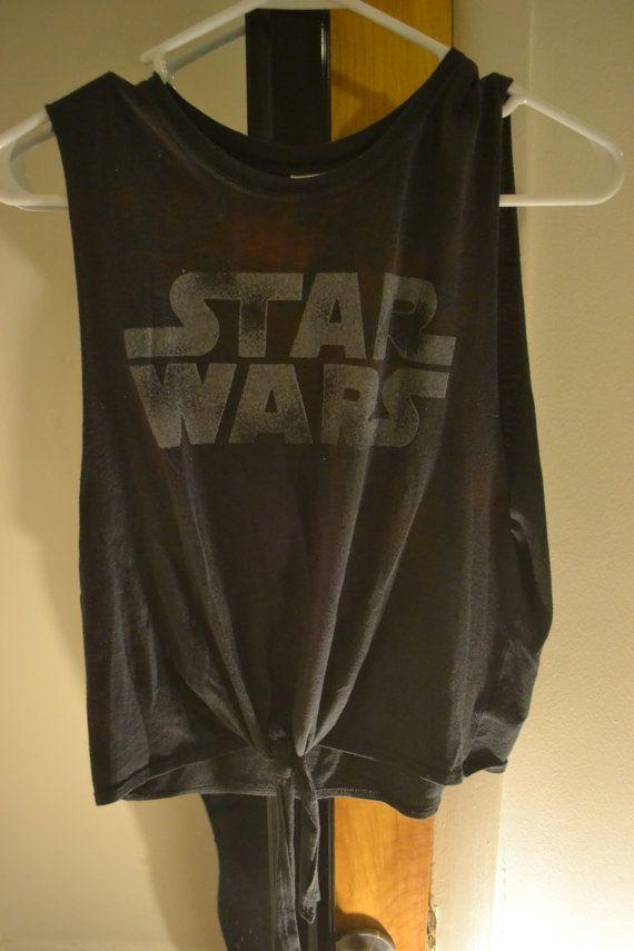Star Wars Cropped Tie Muscle Tee