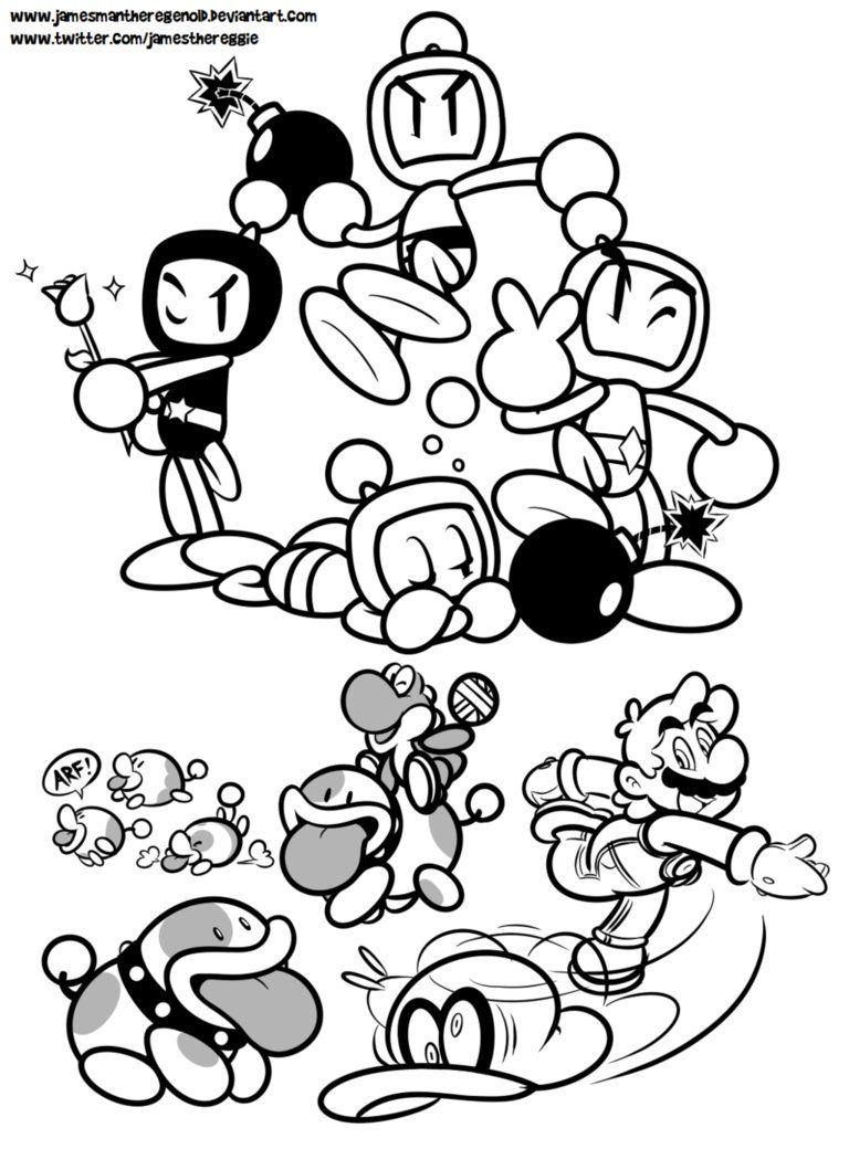 Poochy And Bomberman S Odyssey By Jamesmantheregenold Bomberman Bomberman Art Anime Fnaf