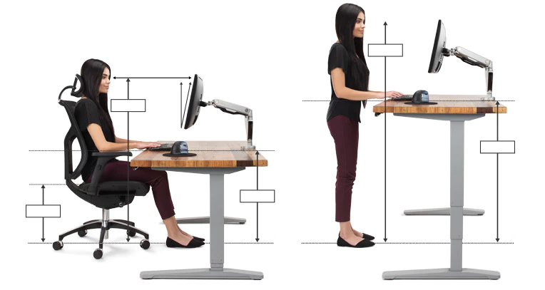 Ergonomic Office Desk Chair And Keyboard Height Calculator Ergonomic Office Ergonomic Office Furniture Ergonomic Desk Height