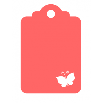 One Butterfly - Laser Die Cut Tag