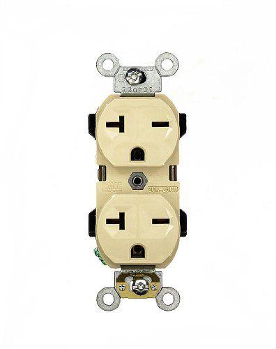 Leviton 5824I 20 Amp 250 Volt Narrow Body Duplex