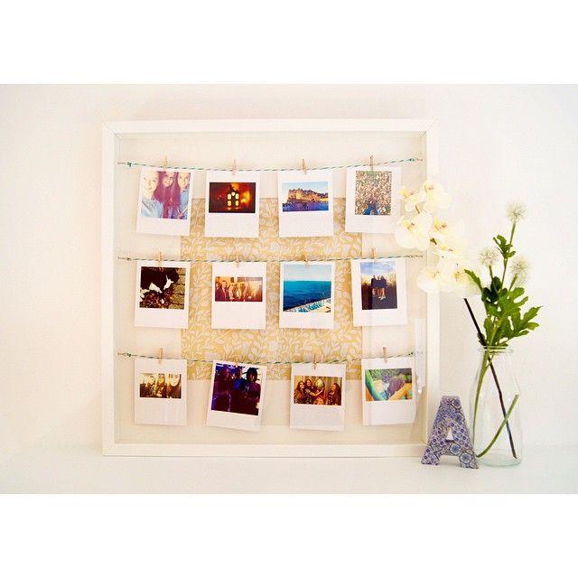 Polaroid display box frame interior design floating for Polaroid wand