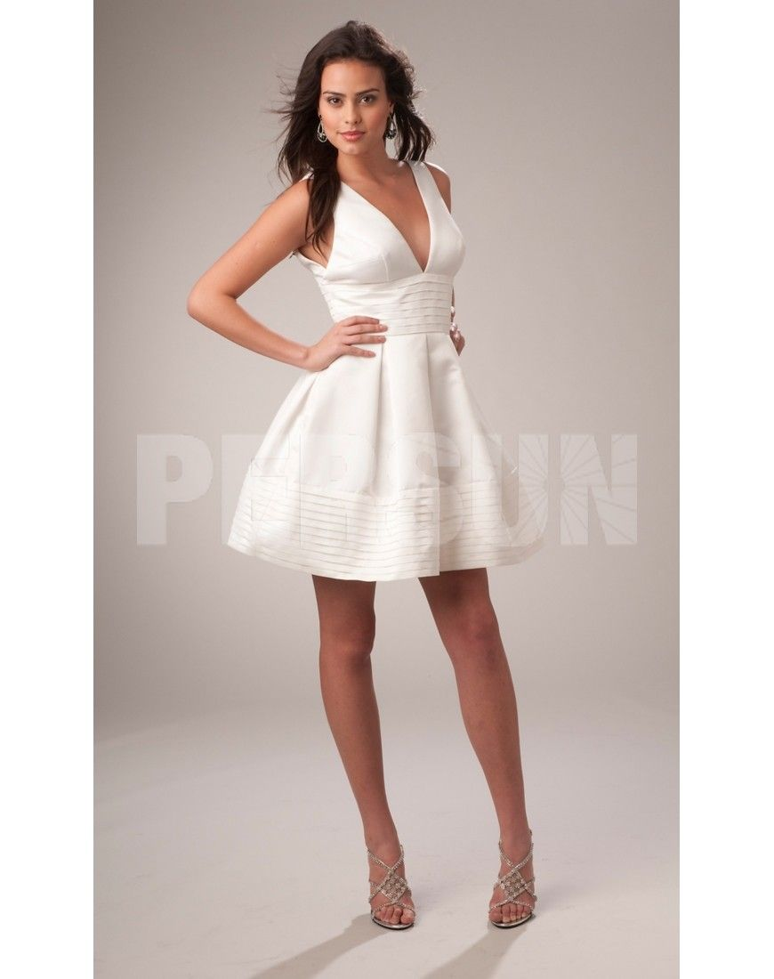 Robe blanche courte mariage pas cher