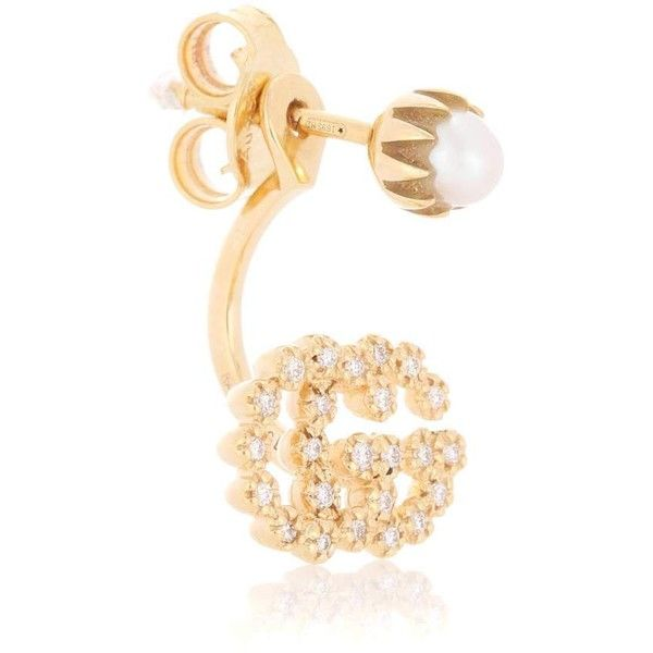 Gucci Running G 18kt gold single earring with diamonds DSS1y