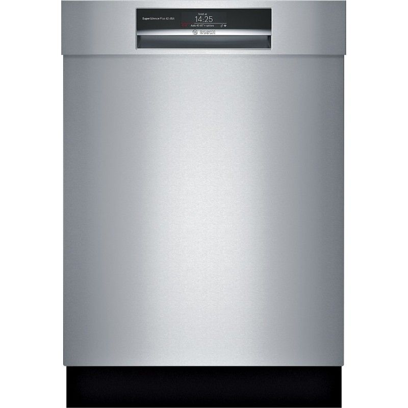 Bosch Shem78wh5n 800 Series 24 Recessed Handle Connected Dishwasher With Stainless Steel Tub In Stainless Steel Built In Dishwasher Steel Tub Integrated Dishwasher