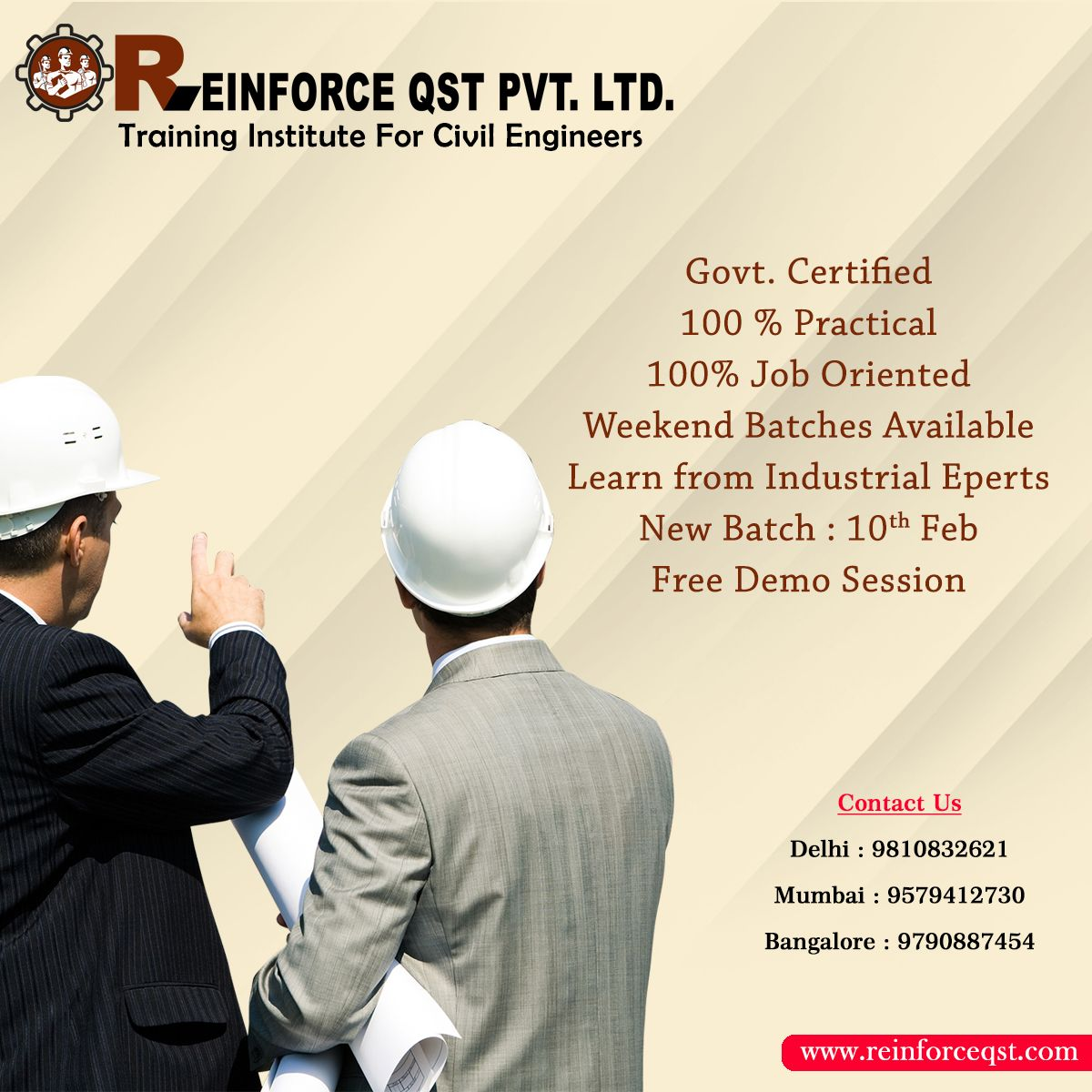 Reinforce Qst Are One Of The Top Quantity Surveyor Course