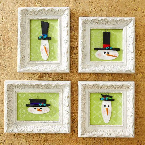 how to make ornament picture frames
