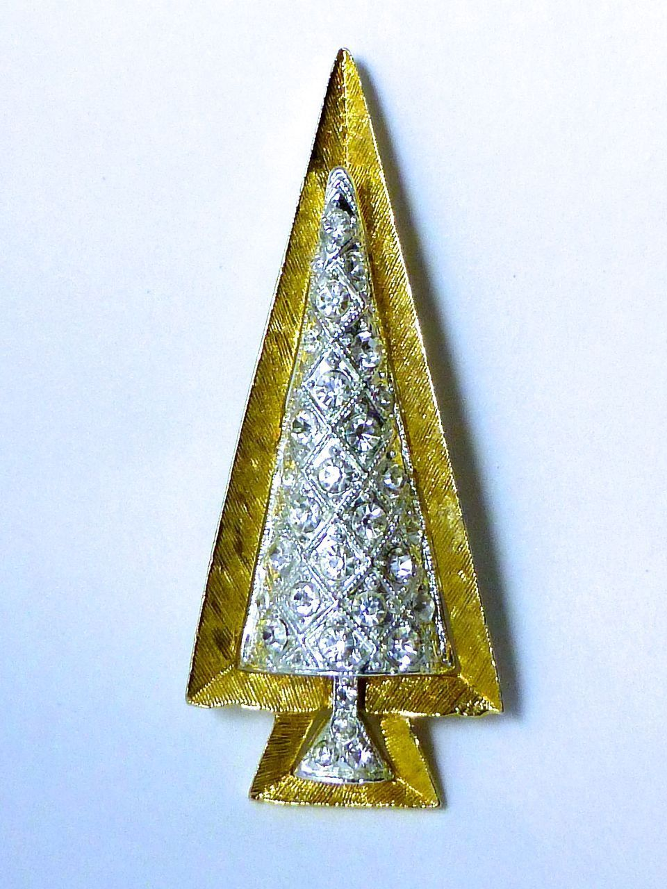Gorgeous Modernist Christmas Tree Pin Book Piece