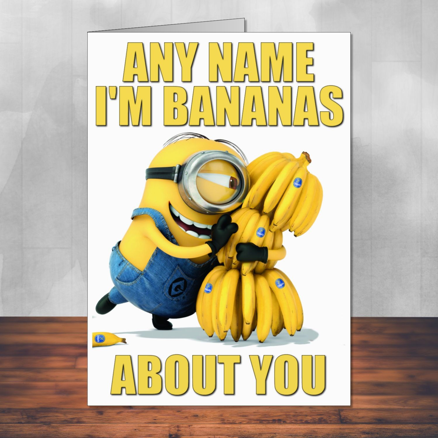 Despicable Me Minion Greeting Card Personalised With Envelope