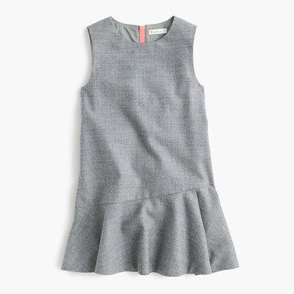 Girls' flutter-hem flannel dress : everyday dresses | J.Crew