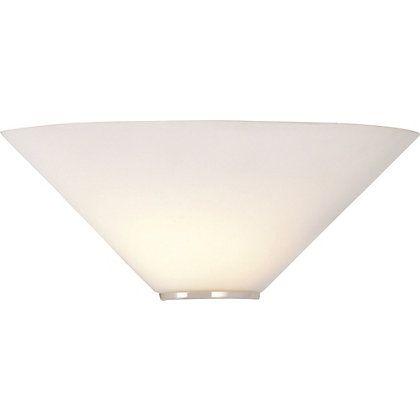 Mozart White Glass Uplighter Wall Light 141639 Homebase 163