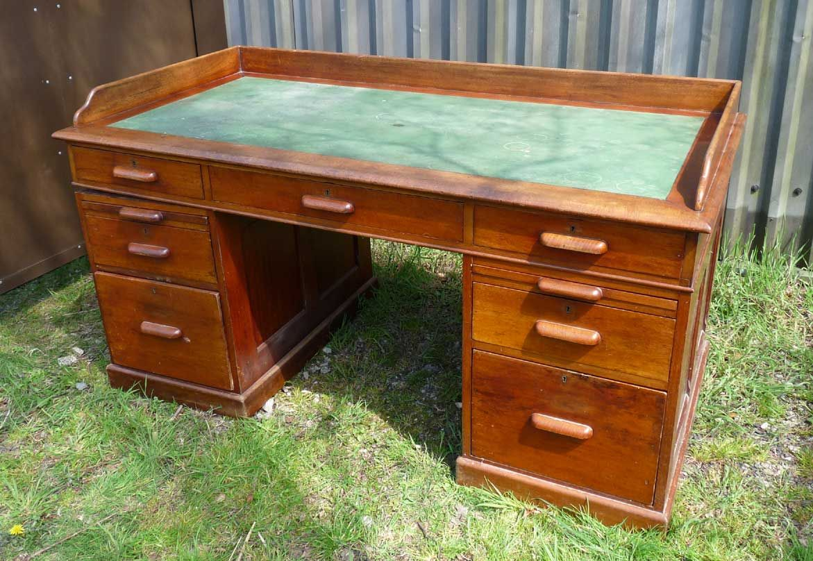 St102 Victorian Mahogany Large Partners Desk With Leather Top 65 Inches Wide 35 Deep 32 Inch Height 465