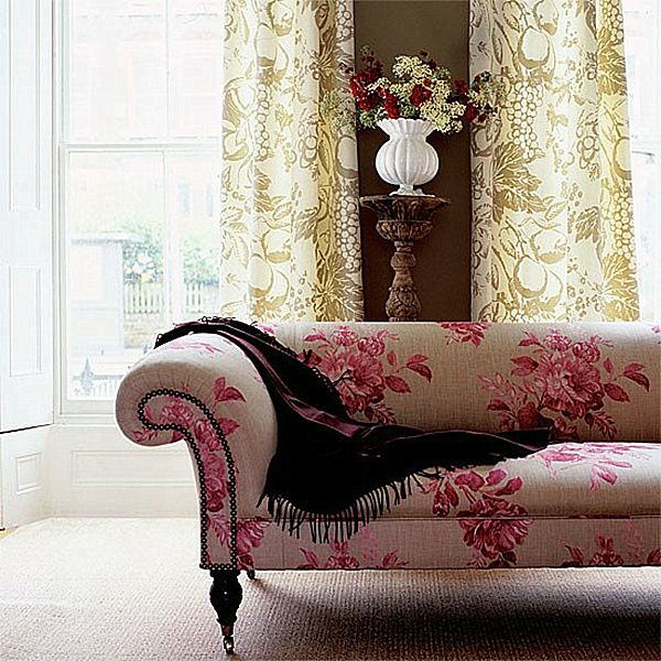 Decorating With Patterned Upholstered Furniture | Floral ...