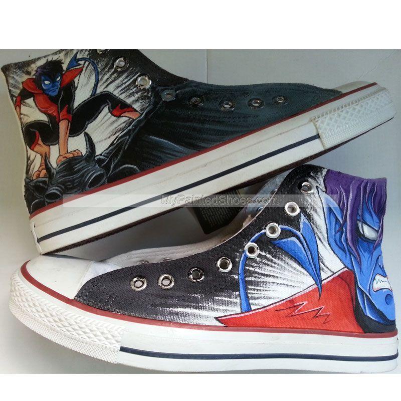 3f2e0b650e352 X-Men Converse X Men Nightcrawler Sneakers Custom Hand Painted S ...