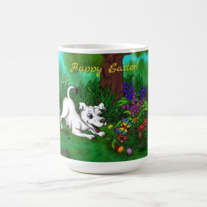 office pet ideas. Easter - Puppy Capo And Butterfly Magic Mug Dog Dogs Doggy Pup Hound Love Office Pet Ideas L