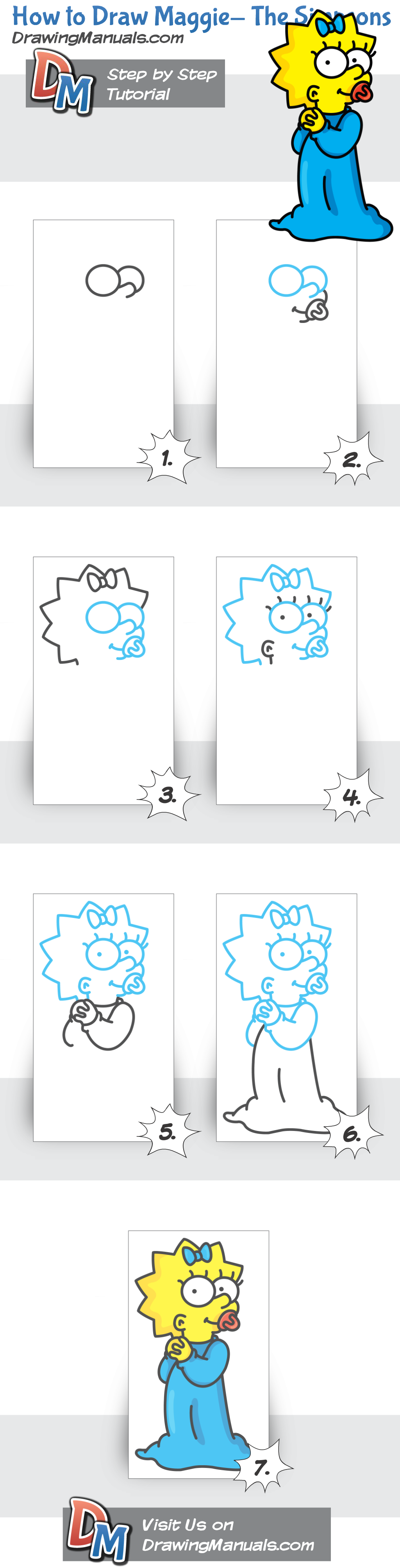 How+to+Draw+Maggie+from+The+Simpsons,+Cartoons