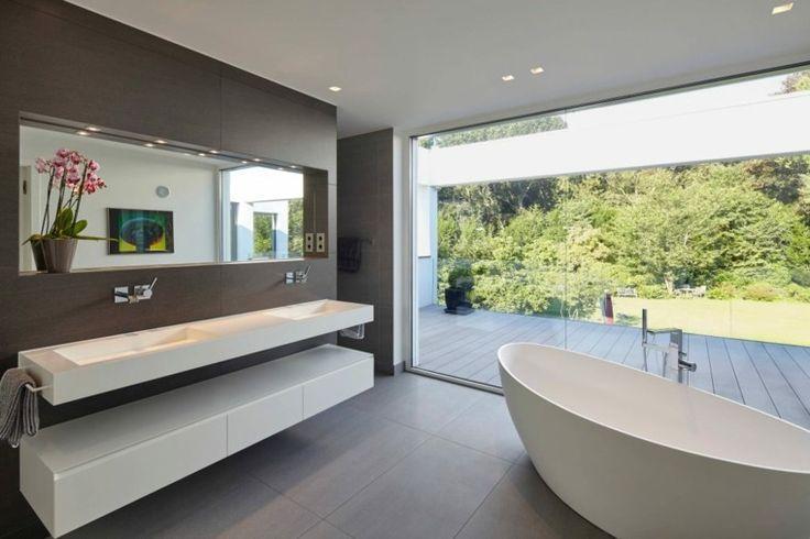 badezimmer ideen Badezimmer Beispielen design Holzfliesen ...