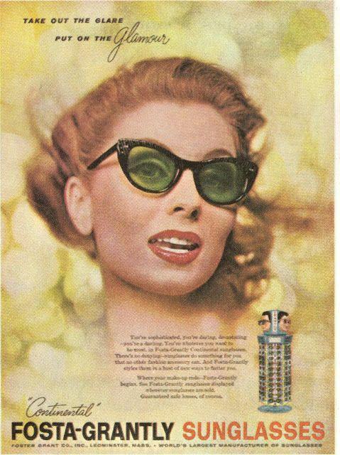 e21b389c496c Foster Grant Sunglasses Ad with Suzy Parker