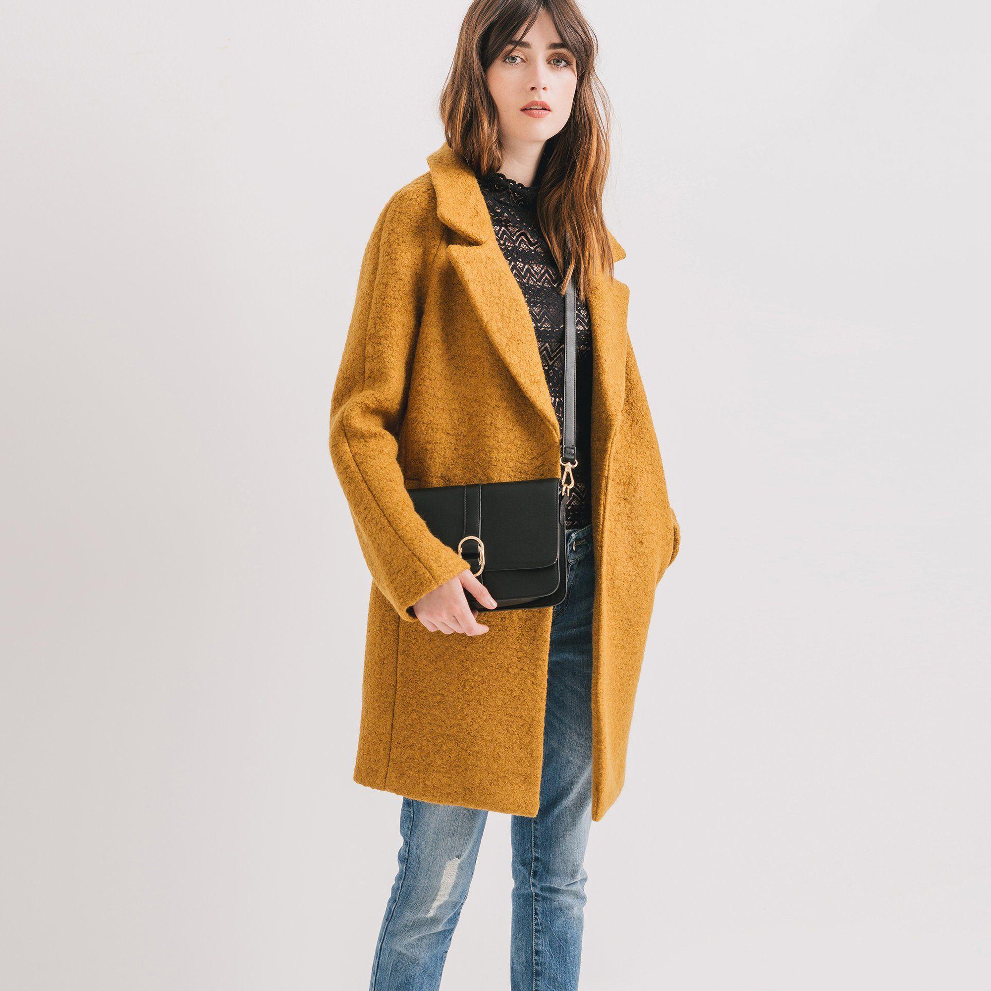 3729fac62129 Un manteau tendance Promod. Un manteau tendance Promod Manteau Femme ...