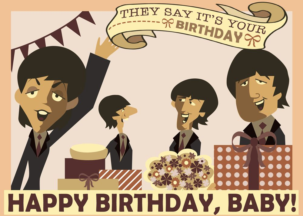 Ok So This Is Definately The Coolest Greeting Card I 39 Ve Made So Far And Here 39 S How It Was Beatles Birthday Happy Birthday Beatles Happy Birthday Baby