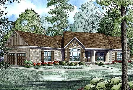 Plan 60615nd Split Floor Plans With Angled Garage Country Style House Plans Ranch House Plans House Plans One Story