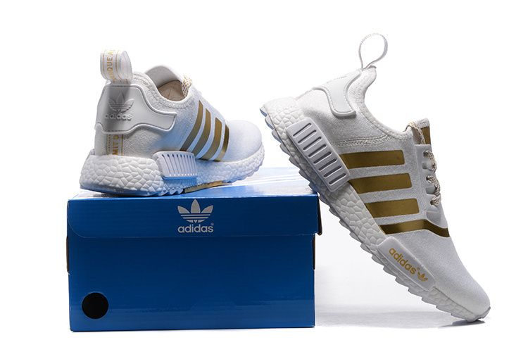 outlet store 0a311 516f0 Adidas Originals NMD Runner PK IV Boost Shoes White Gold