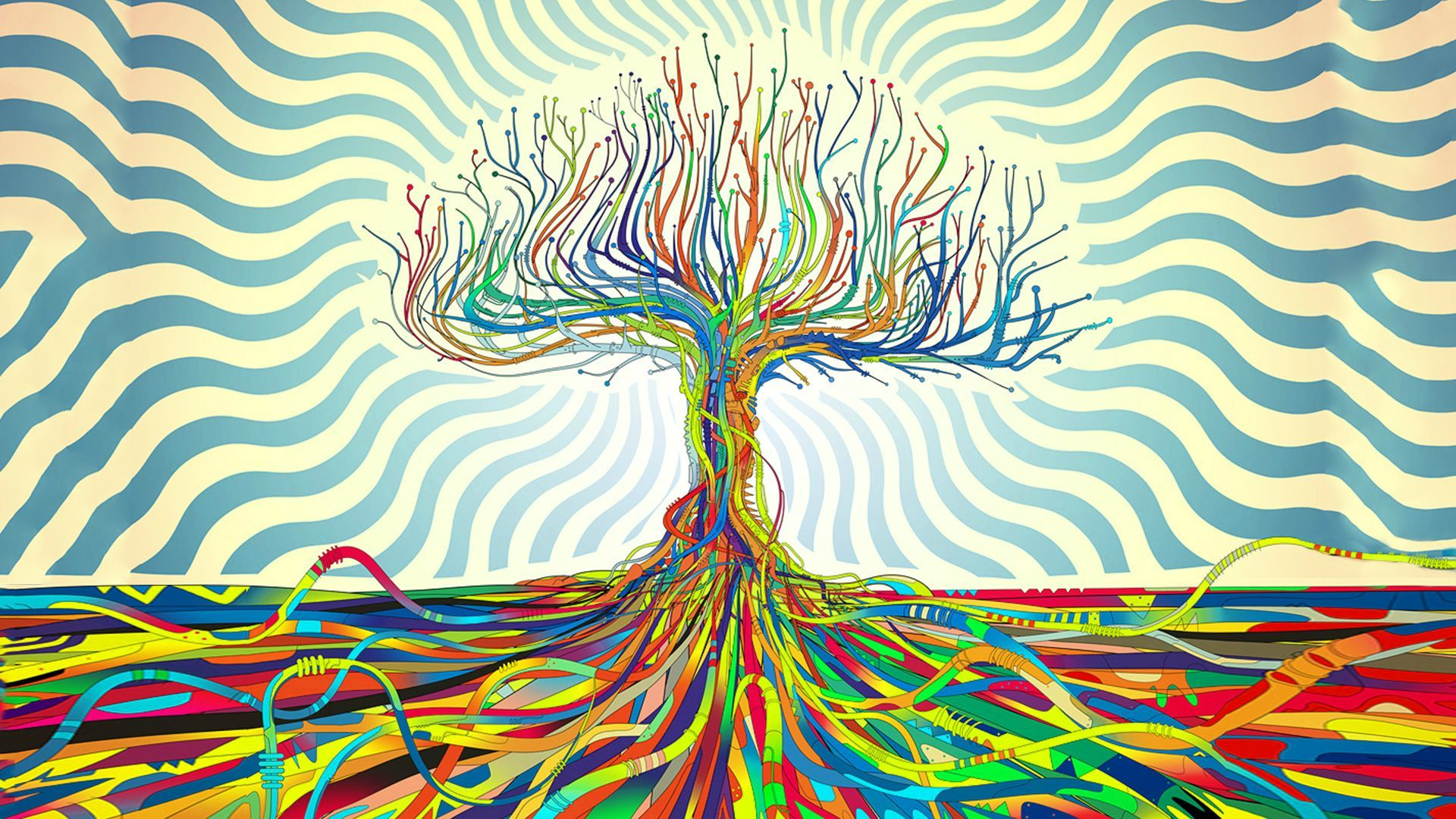 Abstract Rrainbow Tree Backgrounds Hd Wallpapers Background Hd Wallpaper Trippy Wallpaper Wallpaper