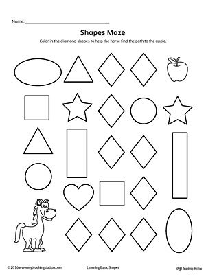 Square Shape Maze Printable Worksheet Printable worksheets, Maze - printable worksheet