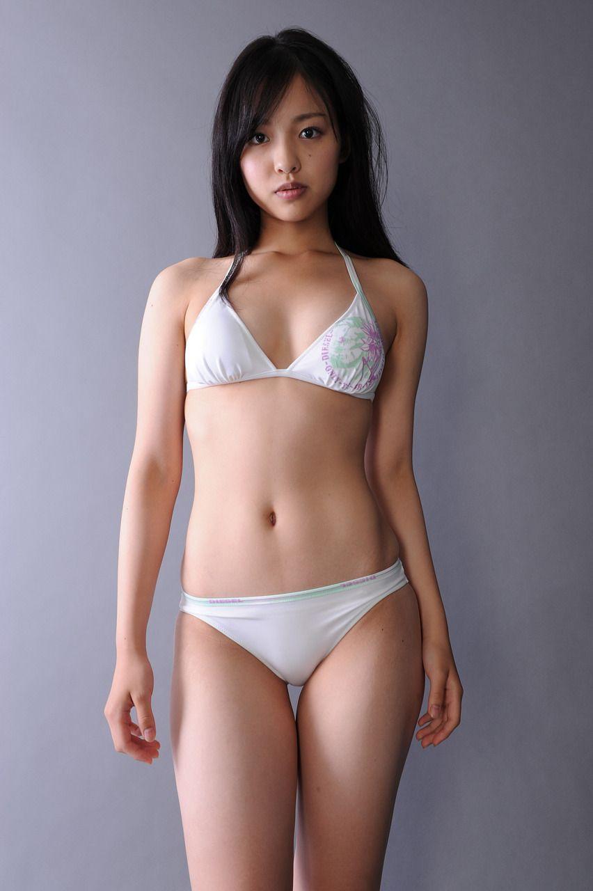 At the asian woman