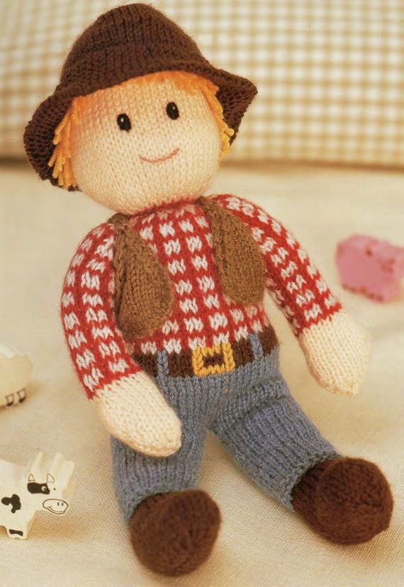 Cow boy toy dk knitting pattern 99p pdf | Knitting ...