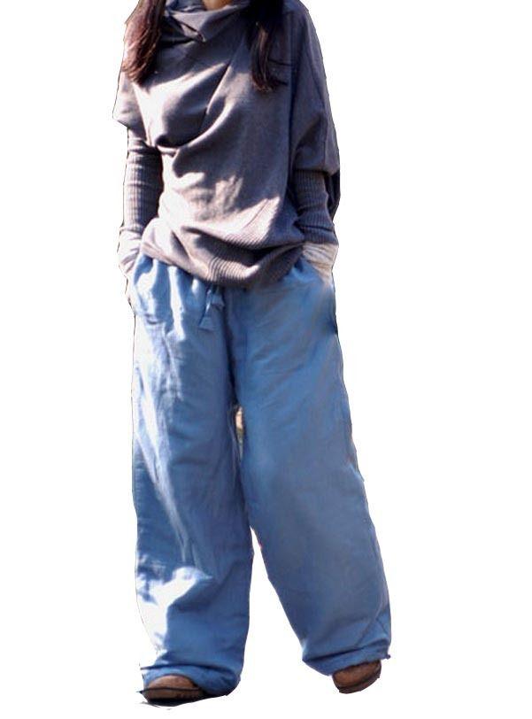 Coton chaud de larges pantalons bouffants épais gr