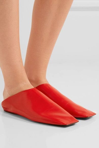 f18f52c636a Balenciaga - Leather Slippers - Red