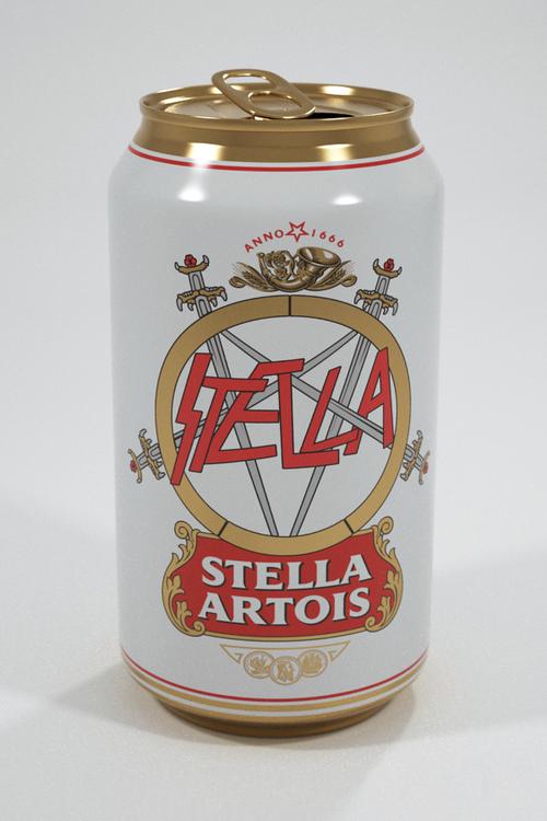Stella Artois Slayer Beer Can