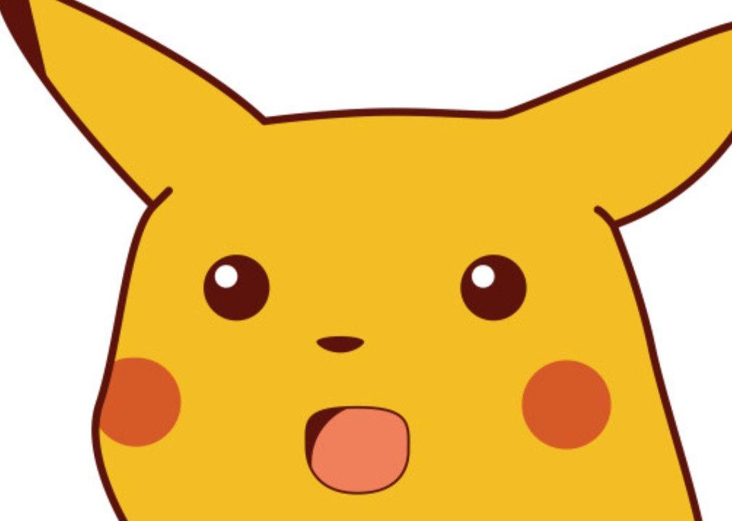 Epic Surprised Pikachu Meme, Pokemon | Pikachu, Pokemon ...