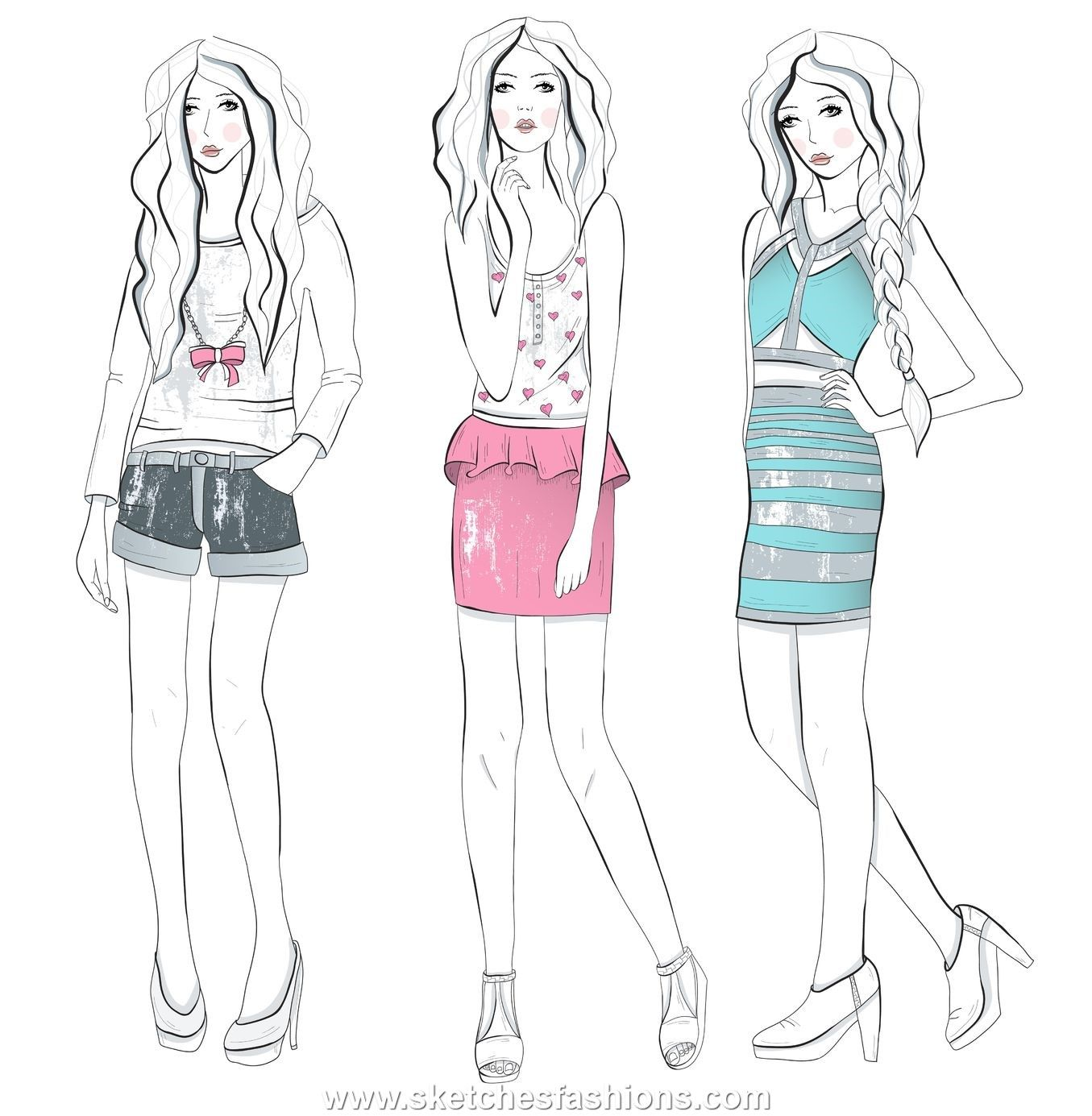 Teen fashion sketches