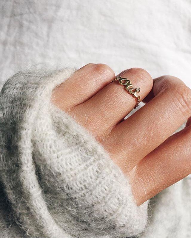 Mejuri Oui Chain Ring Pure 18k Gold Jewelry Dress Rings 18k