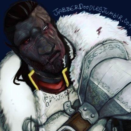 It's my burned boyo! #dragonborn #dovahkiin #myart #tes5 #skyrim #dunmer #elf #fantasy