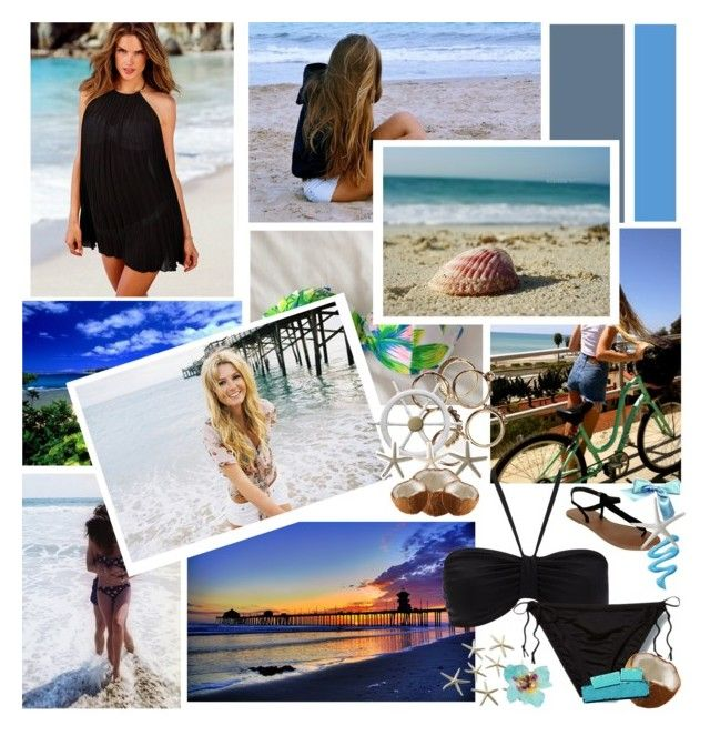 """""""The Beach"""" by cdanielson99 ❤ liked on Polyvore featuring Victoria's Secret, Wallis, Quiksilver, Wet Seal, Take Off Your Clothes, Dorothy Perkins and Swell"""