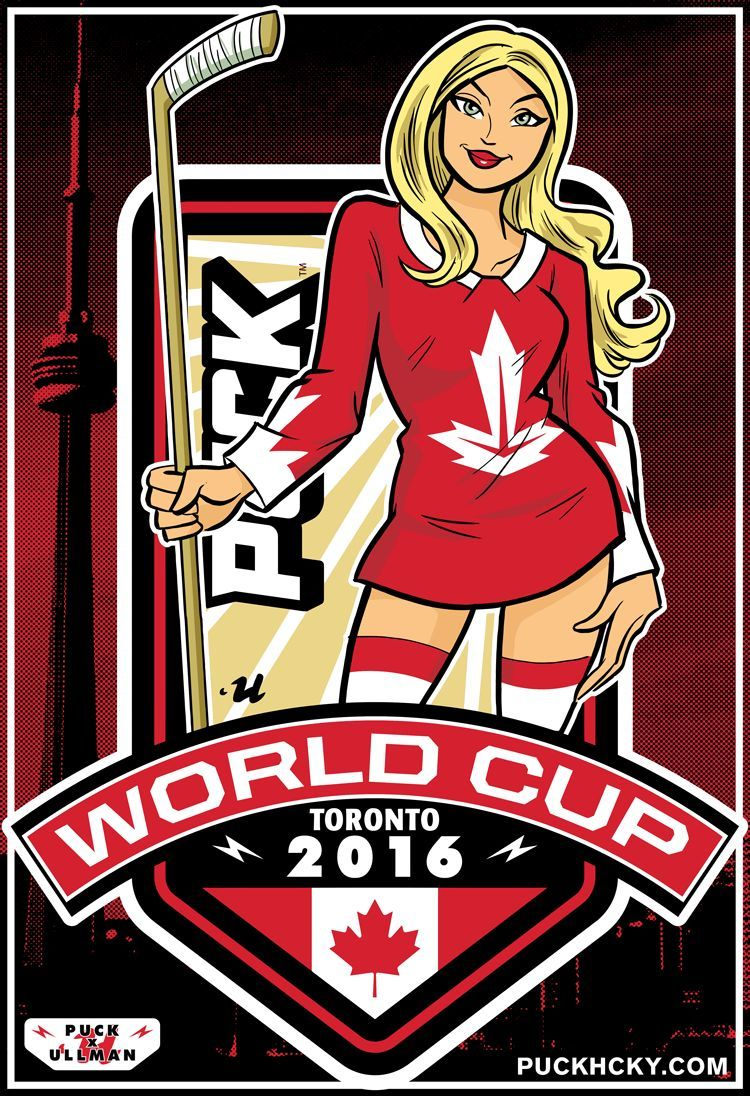 Puck Hcky World Cup Canada Hockey Poster Our Exclusive Limited Edition World Cup Series Features Work By Worl Hockey Posters Canada Hockey Hockey World Cup