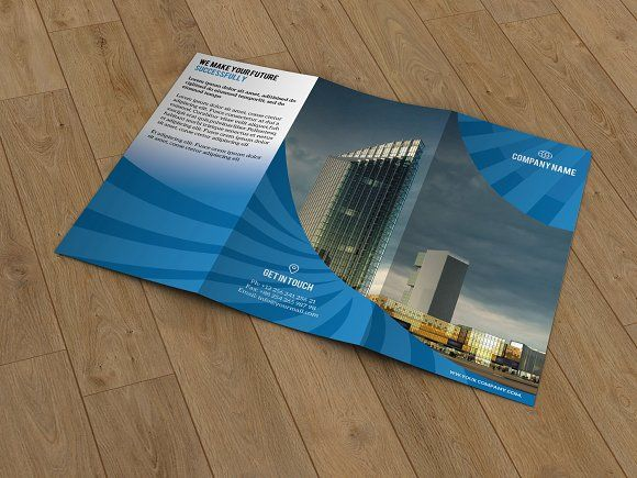 Corporate trifold brochure-T122 by Template Shop on @creativemarket