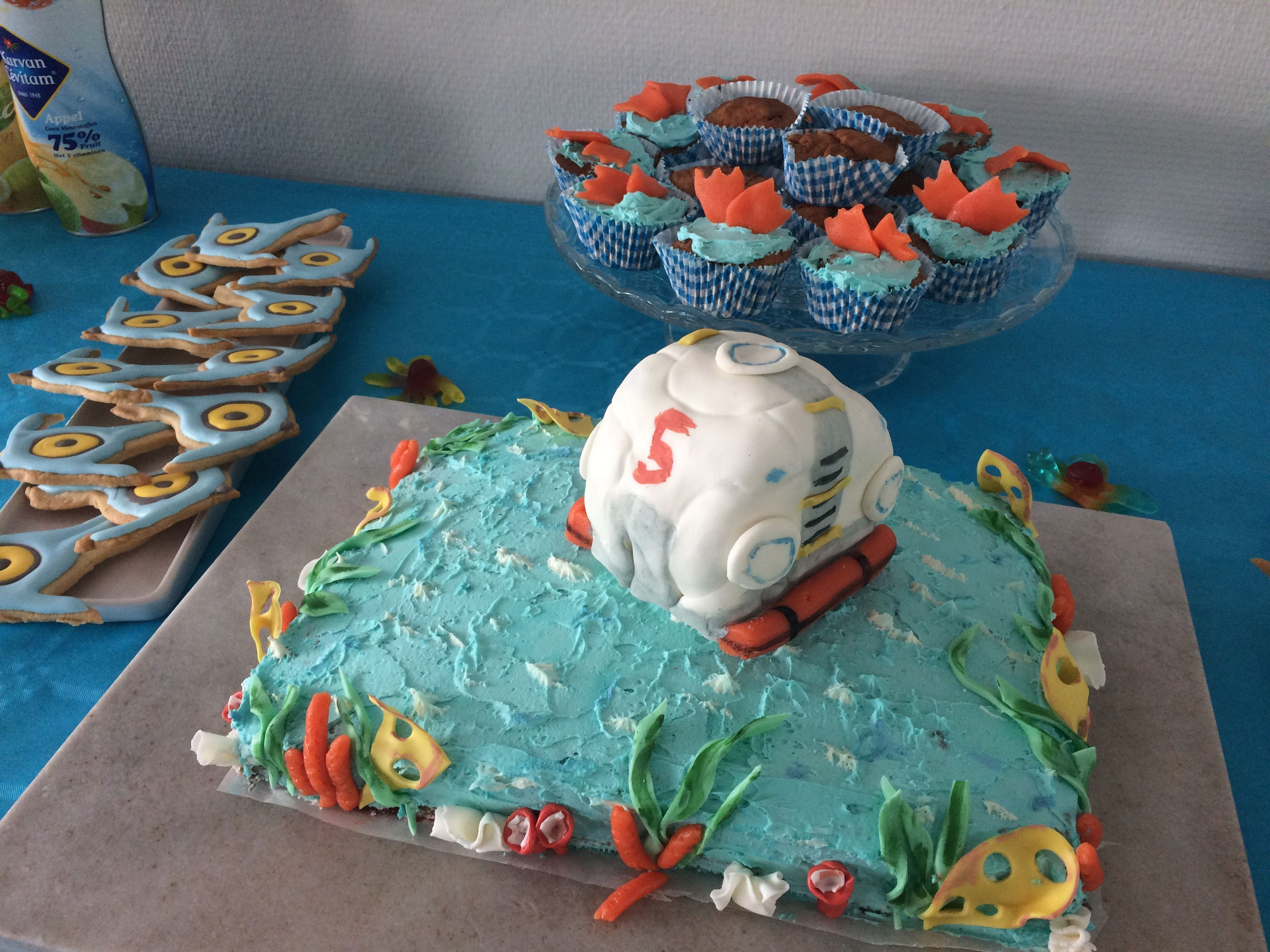 Subnautica Cake Lifepod Sea
