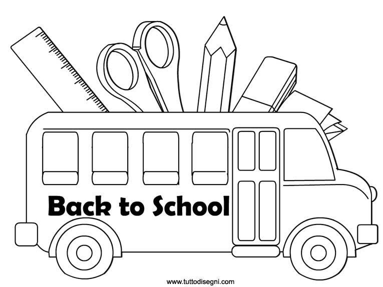 Rientro A Scuola Disegno Tuttodisegni Com Scuola Cose Per La Scuola Primo Giorno Di Scuola