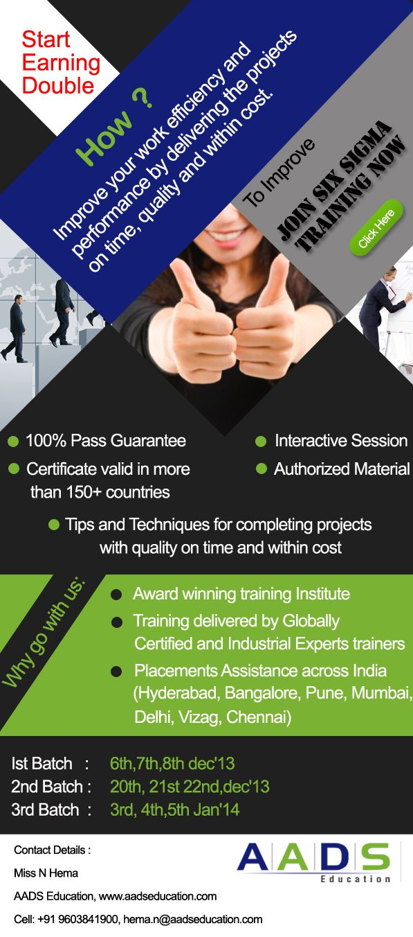 Six Sigma Training And Certification At Aads Education Six Sigma